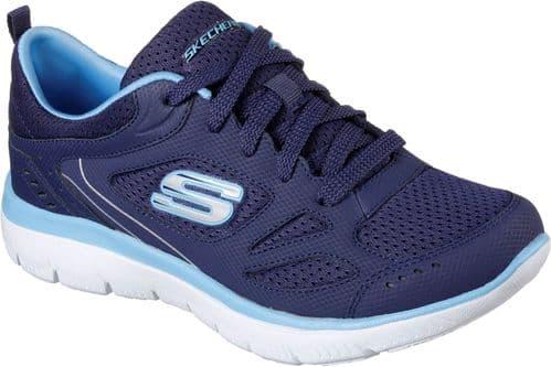 Skechers Summits Suited Ladies Sports Navy / Blue